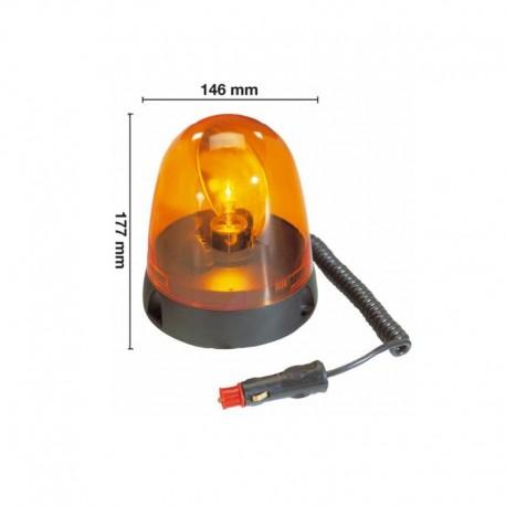 Girofaro lampeggiante arancione Ama per trattori mezzi d'opera