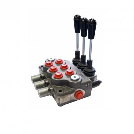 Distributore oleodinamico 3 leve Doppio Effetto 40 lt trattore muletti