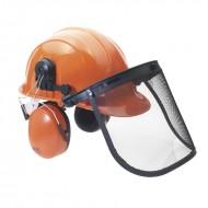 Casco motosega protezione con cuffie e visiera CE